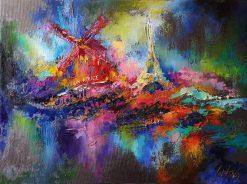 تابلو نقاشی شبهای پاریس3
