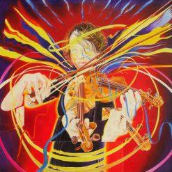 تابلو موسیقی -طرحی زیبا از نواختن ویولن