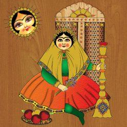 تابلو سنتی خاتون #3