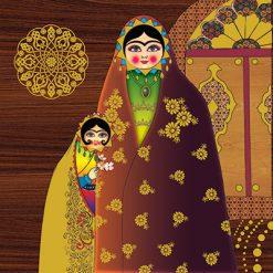 تابلو سنتی خاتون #5