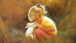 تابلو نقاشی -زندگی کودکان-طرح3-دونالد زولان1
