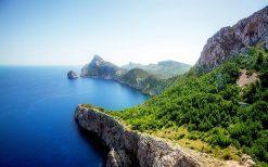 تابلو منظره طبیعت زیبای جزیره و اقیانوس