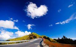 تابلو منظره جاده به آسمان