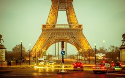 تابلو منظره زیبای برج ایفل پاریس