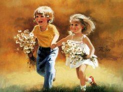 تابلو نقاشی -زندگی کودکان-طرح7-دونالد زولان1