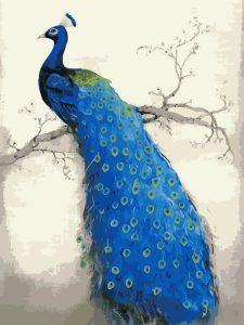 تابلو نقاشی مدرن و زیبای طاووس 1