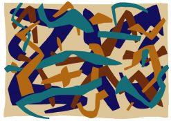تابلو نقاشی مدرن- طرح شازم