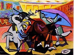 a-bullfight-1934-Abstract-painting