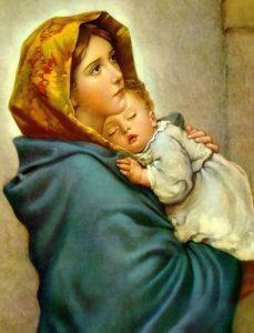 تابلو نقاشی زیبای مادر اثر روبرتو فروزی1