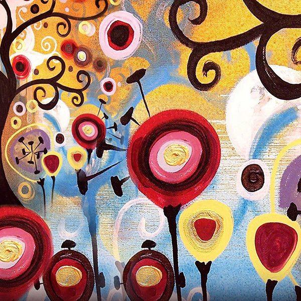 تابلو نقاشی درختان فانتزی