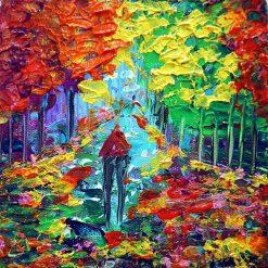 تابلو نقاشی رمانتیک مینیاتوری مدرن