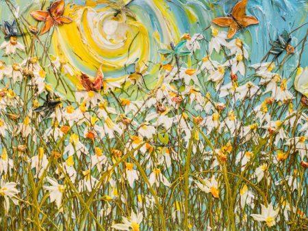 برجسته از گلها و پروانه ها