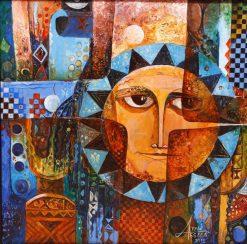 تابلو نقاشی مدرن- طرح زیبایی از خورشید