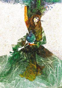 تابلو نقاشی زیبای طرح گواش-بانوی ایران