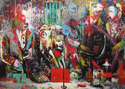 تابلو نقاشی مدرن-طرح ریزی یک دسیسه
