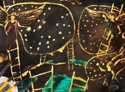 تابلو نقاشی مدرن-طرح زیبای رویای عشق