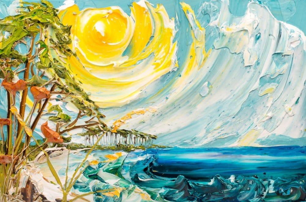 تابلو نقاشی طرح برجسته-ساحل آفتابی اثر Justin-Gaffrey