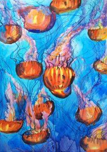 تابلو نقاشی مدرن-عروس دریایی