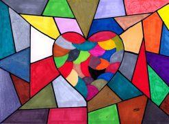 تابلو نقاشی مدرن- عشق فوق العادست!