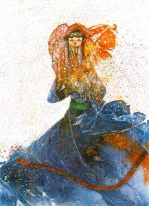 تابلو نقاشی طرح گواش-بهشت