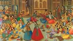 تابلو نقاشی زیبا از موسیقی ایرانی