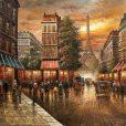 تابلو نقاشی پاریس در زمستان