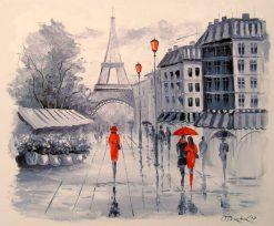تابلو نقاشی رمانتیک از پاریس
