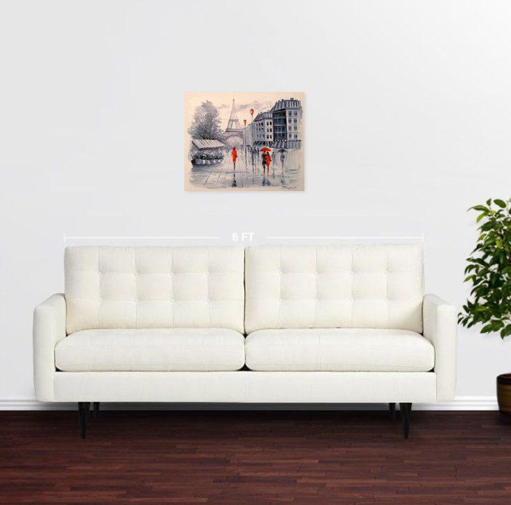 تابلو نقاشی رمانتیک از پاریس3