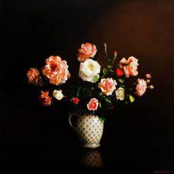تابلو نقاشی گل های رز