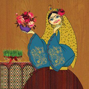 تابلو سنتی خاتون #4