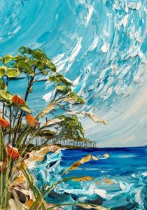 تابلو نقاشی طرح برجسته-ساحل دریا اثر Justin-Gaffrey