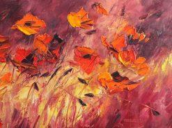 تابلو نقاشی مدرن- گلهای صحرایی زیبا1