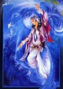 تابلو نقاشی الهه ستارگان