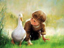تابلو نقاشی -زندگی کودکان-طرح2-دونالد زولان1