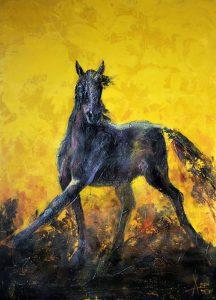 تابلو حیوانات اسب پر انرژی