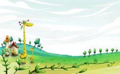 تابلو جدید اتاق کودک زرافه ها