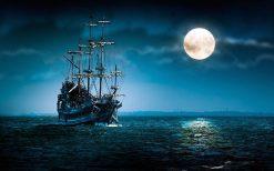 تابلو کشتی در اقیانوس