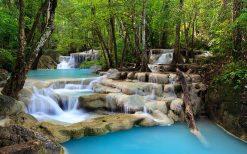 تابلو منظره آبشار در جنگل