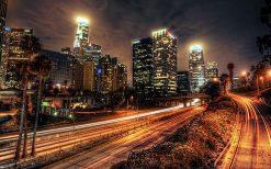 تابلو منظره زیبای شهر لس آنجلس
