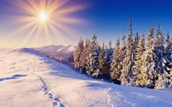 تابلو منظره زیبای زمستان