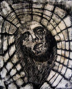 تابلو نقاشی مدرن و زیبای -تارعنکبوت1