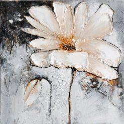 تابلو نقاشی مدرن- نقاشی زیبا از گل های سفید1
