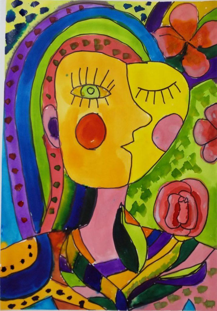 تابلو مفهومی:Cubism Self Portrait2