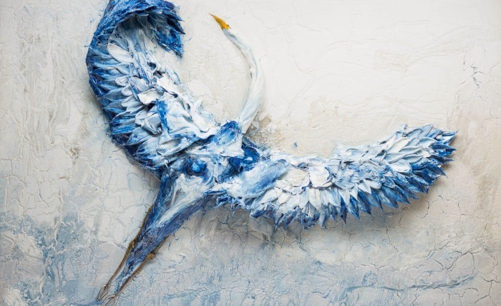 تابلو نقاشی مدرن- Stork(لک لک)