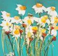 تابلو نقاشی مدرن و منحصر به فردDancing flowers