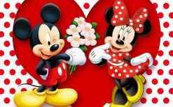 تابلو کارتون Mickey Mouse & Minnie Mouse-Love