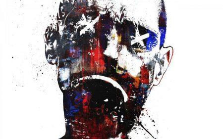 تابلو نقاشی مدرن غمگین