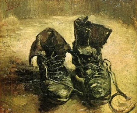 a-pair-of-shoes-1886-1- still life painting, Tree painting, Post-Impressionism, Popular paintings, Vincent van Gogh
