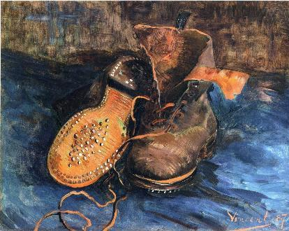 a-pair-of-shoes-1887-1- Still life painting, Post-Impressionism, Vincent van Gogh