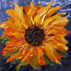 تابلو نقاشی مدرن- نقاشی گل آفتابگردان زیبا 1